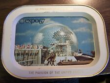VINTAGE - EXPO 67 - MONTREAL CANADA - 7 INCH SOUVINER TRAY - EXCELLENT