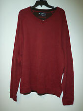 Cremieux Classics New Mens Red Heather Sweater Shirt