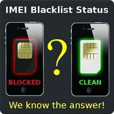 iPHONE 3gs 4 4s 5/5s BLACKLIST BLOCKED LOST STOLEN BARRED STATUS CHECK
