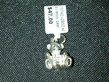 Sterling Silver Solid teddy bear charm or pendant New