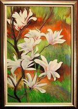 Joseph Santele FLOWERING TREE II Original Oil Painting of flowers, Make Offer!