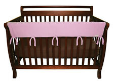 "CribWrap Convertible Crib Rail Cover-51"" Pink Fleece By Trend Lab 109077 New"