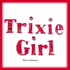 Sizzlits Trixie Girl alphabet 9-die set #655111 Retail $44.99  Retired & Rare