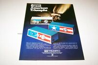 Vintage TRIUMPH BICENTENNIAL radio - ad sheet #0192
