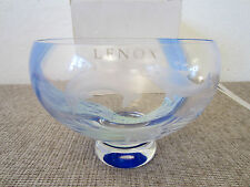 Nautical Decor, Etched Mouth Blown Glass Bowl