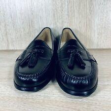 Cole Haan Men's Tassel Loafers Dress Slip On Shoes Black Leather Size 9 D 3506