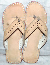 INDIAN HANDMADE LEATHER SANDAL SHOES SLIPPER FOOTWEAR FOR WOMENS AND GIRLS US