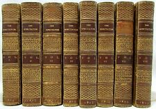 Addison Spectator 1803 set 8 vols antique leather bound books 44 engraved plates