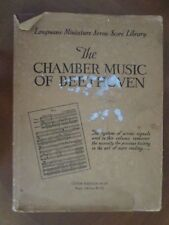 THE CHAMBER MUSIC of BEETHOVEN edited Albert E. Wier 1940 HBDJ SCORES