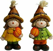 Halloween Autumn Decoration Figurines Jack and Jacky with Pumpkin Hand 15cm New