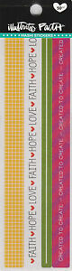 50 Christian Faith Sticker Embellishments for Scrapbook, Bible or Prayer Journal
