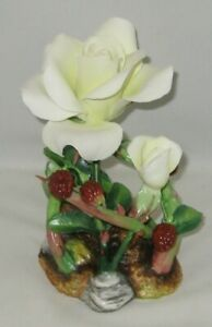"Boehm Porcelain Flower Sculpture ""ROSE & RASPBERRY"" 300-88"