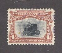 United States stamp #296, used, light cancel, clean, SCV $17.00