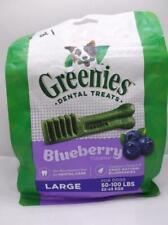 New listing Greenies Dental Dog Treats Large Blueberry 12 Oz 8 Treats Each Bag 8/2021