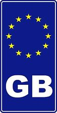 GB Euro Car Sticker Rectangle Sticker Decal Graphic Vinyl Label