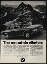 1970 BMW 2800 Sports Car - The Mountain Climber - Alpine Roads - VINTAGE AD