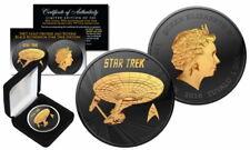 1 oz Tuvalu Star Trek U.S.S Enterprise NCC-1701 Ruthenium Gilded Box & Zertifika