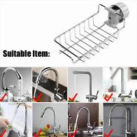 Stainless Steel Faucet Kitchen Drain Rack Sponge Dish Storage Holder Sink Shelf