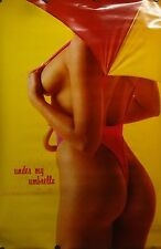 Under My Umbrella 23x35 80's Pin Up Girl Poster 1987