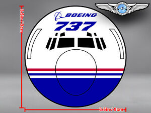 BOEING 737 B737 CLASSIC FRONT VIEW DECAL / STICKER