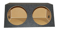 """QPOWER QSMBASS10 Dual 10"""" Sealed Front Angle Subwoofer Sub Box Speaker Enclosure"""