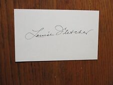 """LOUISE   FLETCHER  (""""One Flew Over the Cuckoo's Nest"""")  Signed  3 x 5 Index Card"""