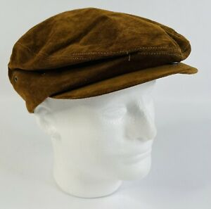 Vintage 60s Stetson Suede Newsboy Cap Size 7-7.5 Made In USA