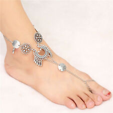 Tassel Foot Chain Jewelry Ankle Bracelet Retro Boho Barefoot Sandal Beach Anklet