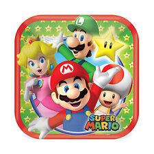 "8 Super Mario Bros Nintendo Birthday Party Disposable 7"" Dessert Paper Plates"