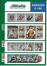 Safety Card - Alitalia - E190 - 2011  (S3785)
