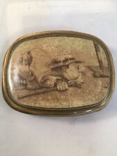 metal belt buckle with picture of golfer Light Weight