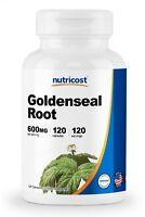 Nutricost Goldenseal Root 600mg, 120 Capsules - Non-GMO, Gluten Free, Veggie Cap