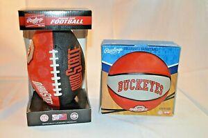 UPICK JUNIOR Size FOOTBALL or YOUTH BASKETBALL Ohio STATE Buckeyes OSU Rawlings