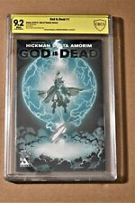 God is Dead #1 God of Thunder Variant CBCS 9.2 (not CGC) Signed Hickman 2013