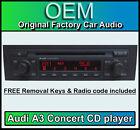 AUDI A3 Reproductor de CD, AUDI CONCIERTO radio de coche Unidad Principal