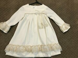 Beautiful Bonnie Jean Ivory Holiday girls dress size 6