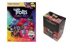 Topps Trolls World Tour Sticker Starteralbum + 1 Display Sticker & Stickerkarten