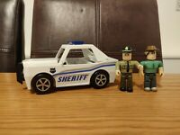 Roblox Sheriff Patrol Car Vehicle Plus 2 Roblox Figures Including Robloxia