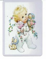 G-28 swap playing card MINT cond RETRO STYLE BABY AND TEDDY BEARS