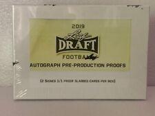 2019 Leaf  draft football Auto Pre-Production PROOFS  SLABBED