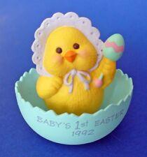 Hallmark Merry Miniatures Easter Vtg Chick Baby Shell Mini Figurine New