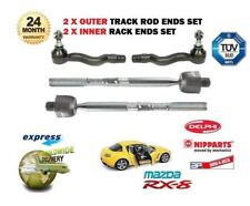 FOR MAZDA RX8 1.3 2003 > 2x OUTER + 2x INNER STEERING RACK TRACK ROD TIE ENDS
