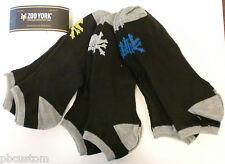 MEN NO SHOW SOCKS-10PK  ZOO YORK SIZE 10-13 BLACK( 10 BLACK WITH MULTI COLORS )