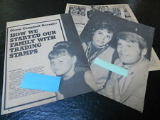 1970 GLENN CAMPBELL MAGAZINE ARTICLE CLIPPING STARTED FAMILY W/ TRADING STAMPS