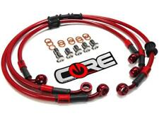 Yamaha R1 Brake Lines 2007 2008 Front-Rear Red Braided Stainless Steel Kit