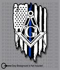 Thin Blue Line Police Masons masonic Freemasons American flag sticker decal