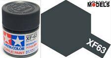 Acrylic Paint - Colore Acrilico Vernice 10ml XF-63 XF63 GERMAN GREY 81763 Tamiya