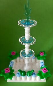 LEGO Water Fountain with Flowers and Frog Town City