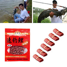 1/2/3/4/5 Bags Red Carp Smell Lure Grass Carp Bait Insect Elastic Particle New