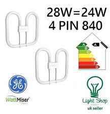 2d 28 Watt Gr10q 4 Pin Cap Cool White 840 T5 GE